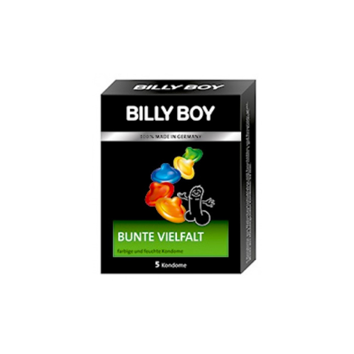 Billy Boy farbig , feucht 5 Kondome