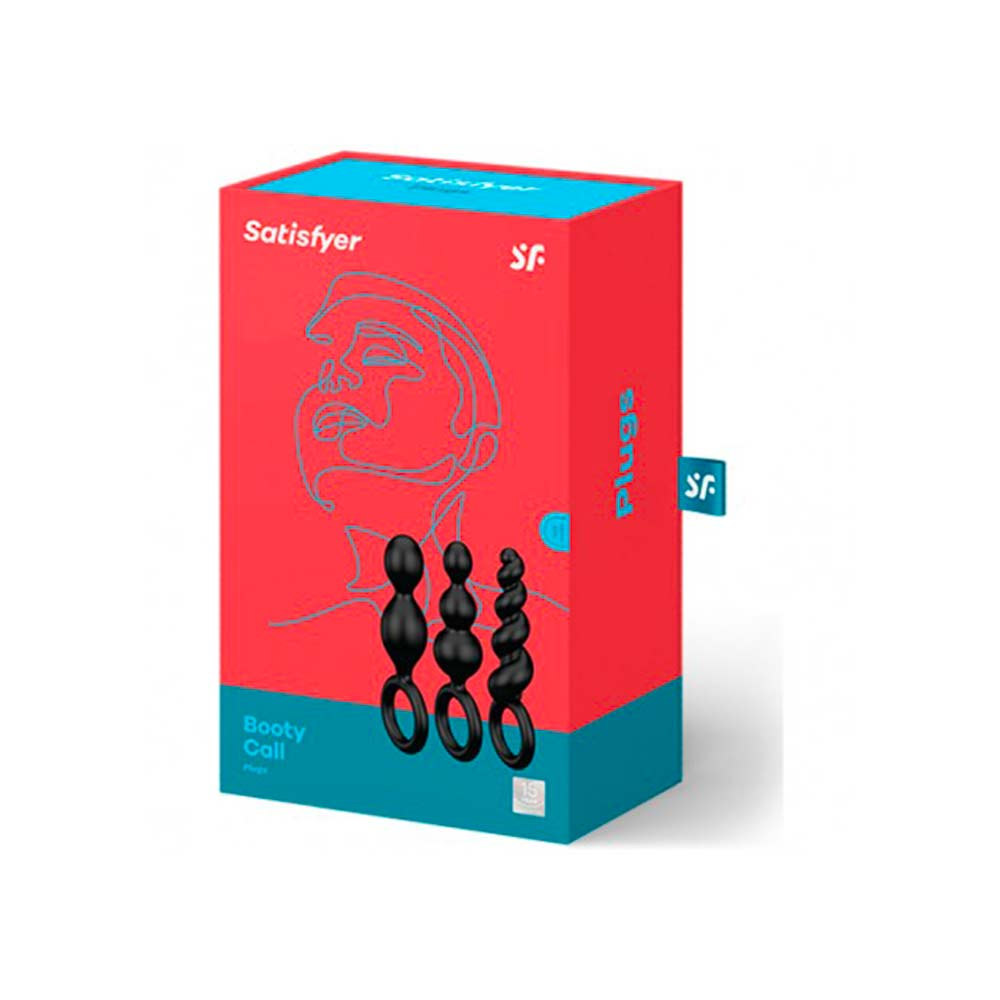 Satisfyer Booty Call Plugs – Black